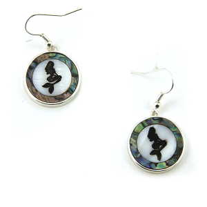 Earring 3453 17 Jolli Molli abalone earrings mermaid