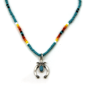 Necklace 1723a 17 Jolli Molli bead navajo necklace turquoise silver arc