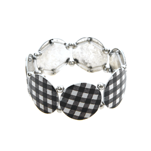 Bracelet 005b 18 Treasure buffalo plaid black