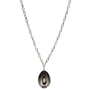Necklace 1138d 18 Treasure Navajo tear drop pendant natural white