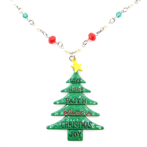 Christmas Necklace 201 18 Treasure Believe in Christmas tree