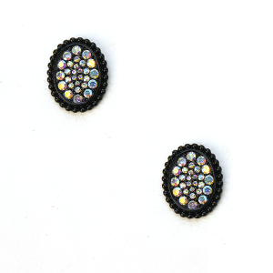 Earring 644m 18 Treasure rhinestone earrings stud black ab