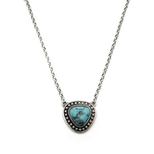 Necklace 1604 18 Treasure navajo stone chain necklace turquoise choker
