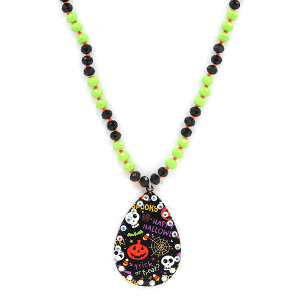 Neckalce 1488c 18 Treasure spooky trick or treat halloween necklace