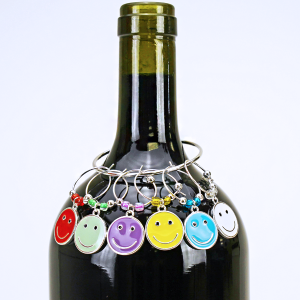 wine charm 005 20 2 Hope smiley face multi