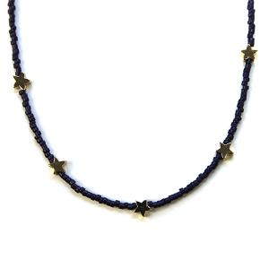 Necklace 329b 21 Dorothy bead chocker necklace star black