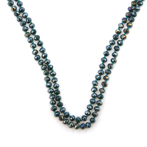 Necklace 1725 22 No. 3 30-60 inch bead necklace teal AB