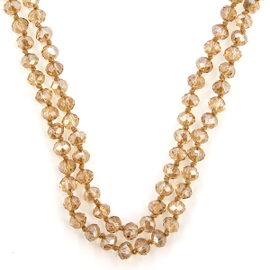 Necklace 1935 22 No. 3 30-60 inch bead necklace topaz 317 clear