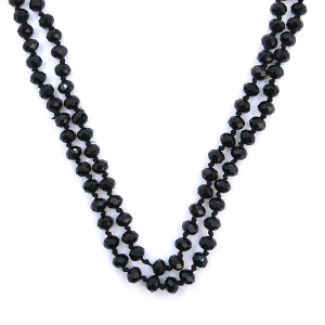 Necklace 2151 22 No. 3 30-60 inch bead necklace black