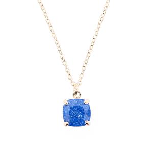 (Necklace 351n 22 No. 3) Chain crown gem blue