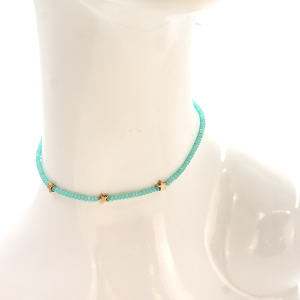 Necklace 880a 22 No. 3 bead star choker necklace mint