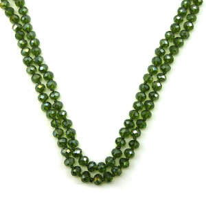 Necklace 873e 30 60 inch bead necklace green