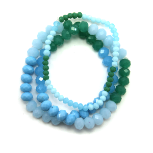 Bracelet 363b 22 No. 3 bead bracelet 3 stack mt32