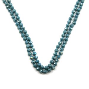 Necklace 686e 22 No. 3 30 60 inch bead necklace light blue 1bl