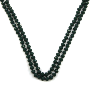 Necklace 681c 22 No. 3 30 60 inch bead necklace dark green 1gr