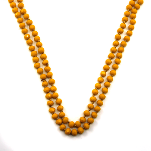Necklace 684a 22 No. 3 30 60 inch bead necklace mustard 1mu