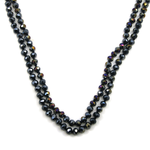 Necklace 692c 22 No. 3 30 60 inch bead necklace navy blue ab 1tlab