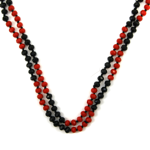 Necklace 1531a 22 No. 3 30 60 inch bead necklace mt63 black red