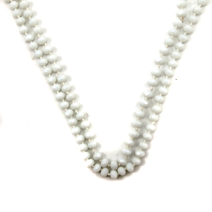 Necklace 1491 22 No. 3 30 60 inch bead necklace white