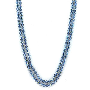 Necklace 1945e 22 No. 3 30-60 inch bead necklace blue 269 ab