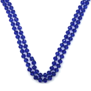 Necklace 888a 22 No. 3 30 60 inch bead necklace blue BL4