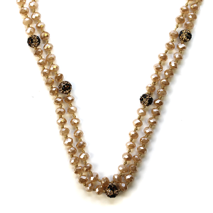 Necklace 916a 22 No. 3 30-60 inch bead necklace rhinestone gem top366