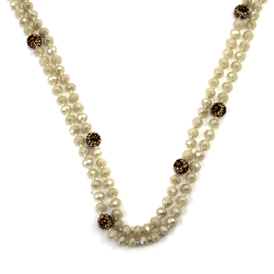 Necklace 346c 22 No. 3 30 60 inch bead necklace leopard accent nt303ab