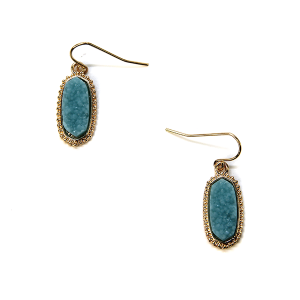 Earring 704a 22 No. 3 raw druzy earrings aqua