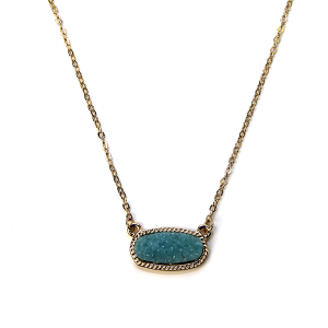 Necklace 1149b 22 No. 3 raw stone druzy necklace mint