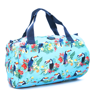 Round Duffel - Floral Tucan