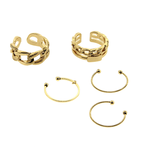 Ring 021 24 Wildflower 5pc chain set gold