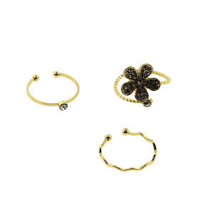 Ring 019 24 Wildflower 3pc floral set gold