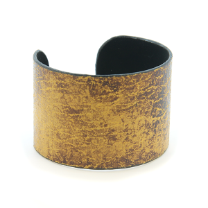 Bracelet 678i 24 Story By Davinci open bangle distressed tall brown