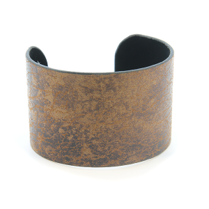 Bracelet 682 24 Story By Davinci open bangle distressed tall dark brown