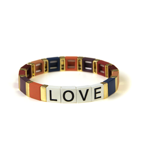 Bracelet 209 24 Wildflower stretch LOVE bracelet multicolor bu