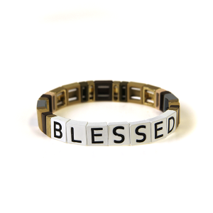 Bracelet 220 24 Wildflower stretch BLESSED bracelet multicolor br