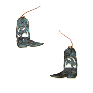 Earring 2235a 24 Story By Davinci boot earrings patina
