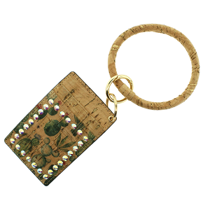 Keychain 099f 25 Tell Your Tale cardholder cork cactus beige
