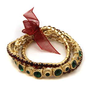Christmas Bracelet 302 25 Tell Your Tale gem christmas ribbon bracelet stack