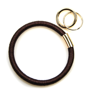 Keychain 155a 25 Tell Your Tale wrist ring keychain metallic brown