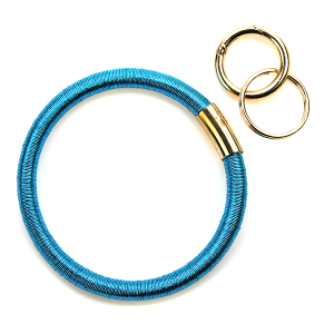 Keychain 118c 25 Tell Your Tale wrist ring keychain metallic turquoise