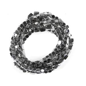 Bracelet 055 25 Tell Your Tale stone bracelet stack chrome