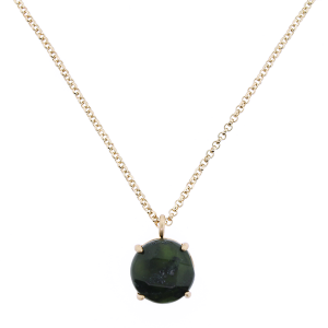 Necklace 034 27 Garden Party gem necklace black-green