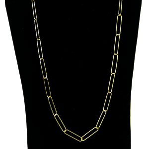 Necklace 1132 27 Garden Party contemporary chain necklace long gold