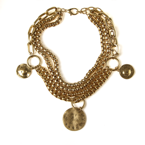 Necklace 008g 27 Garden Party multilayer necklace gold collar