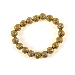 Bracelet 048 27 Garden Party bead bracelet gold matte