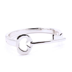 (Bracelet 724i 33 Lucky You) Key Spade magnetic bangle silver