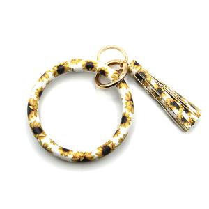 Keychain 251 34 round hoop sunflower white