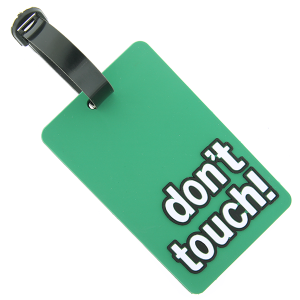 (Luggage Tag 043 34) don't touch green