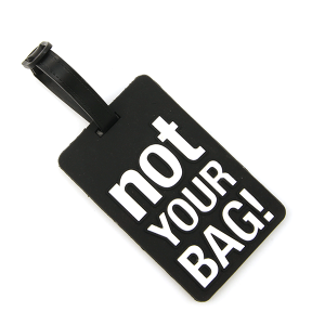 Luggage Tag 053b 34 Not Your Bag black